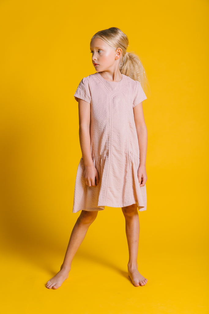Kipp Blush Pintuck Dress