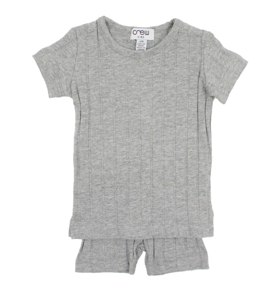 Crew Grey Short Sleeve Rib Set