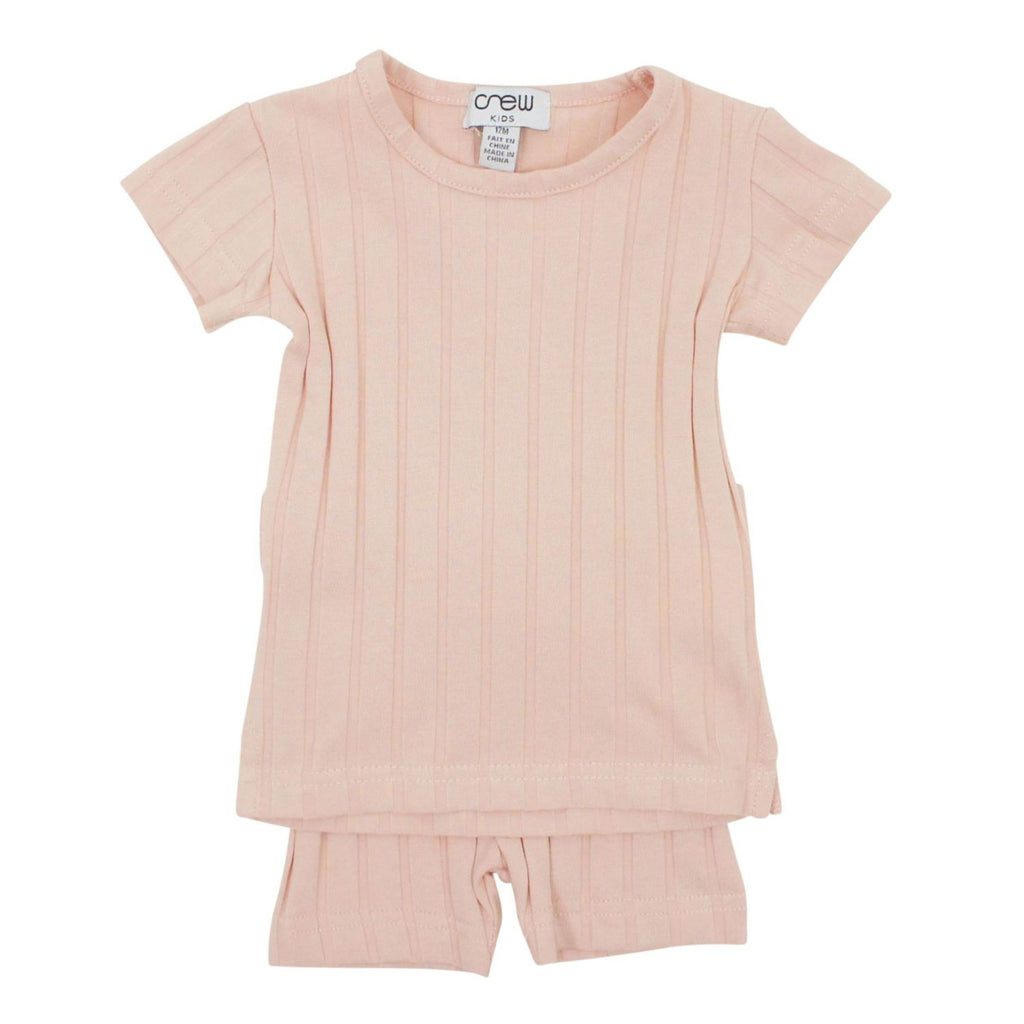 Crew Blush Short Sleeve Rib Set