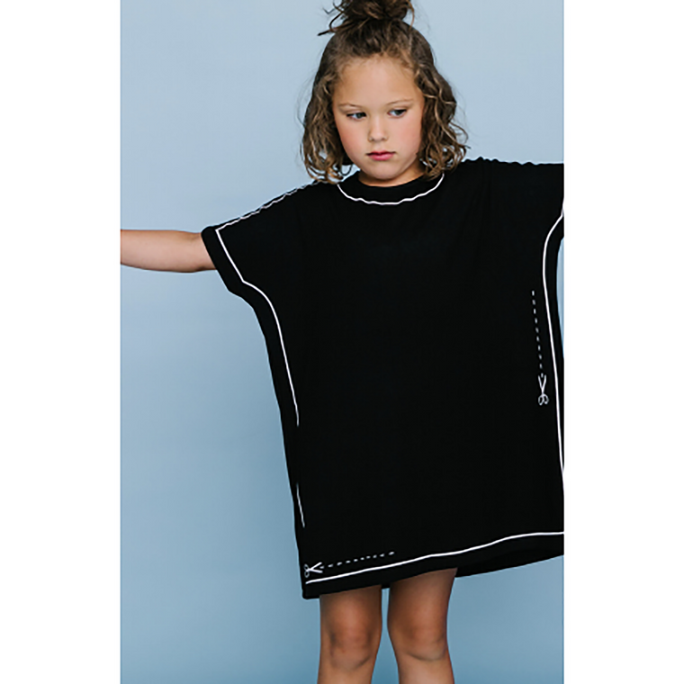 Crew Black/White Cut and Sew Dress