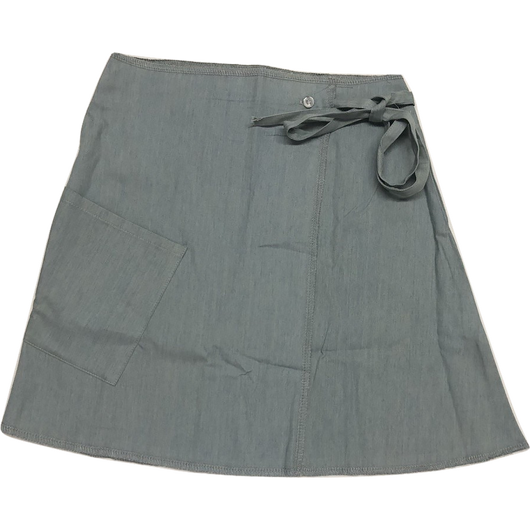 Crew Denim Wrap Skirt