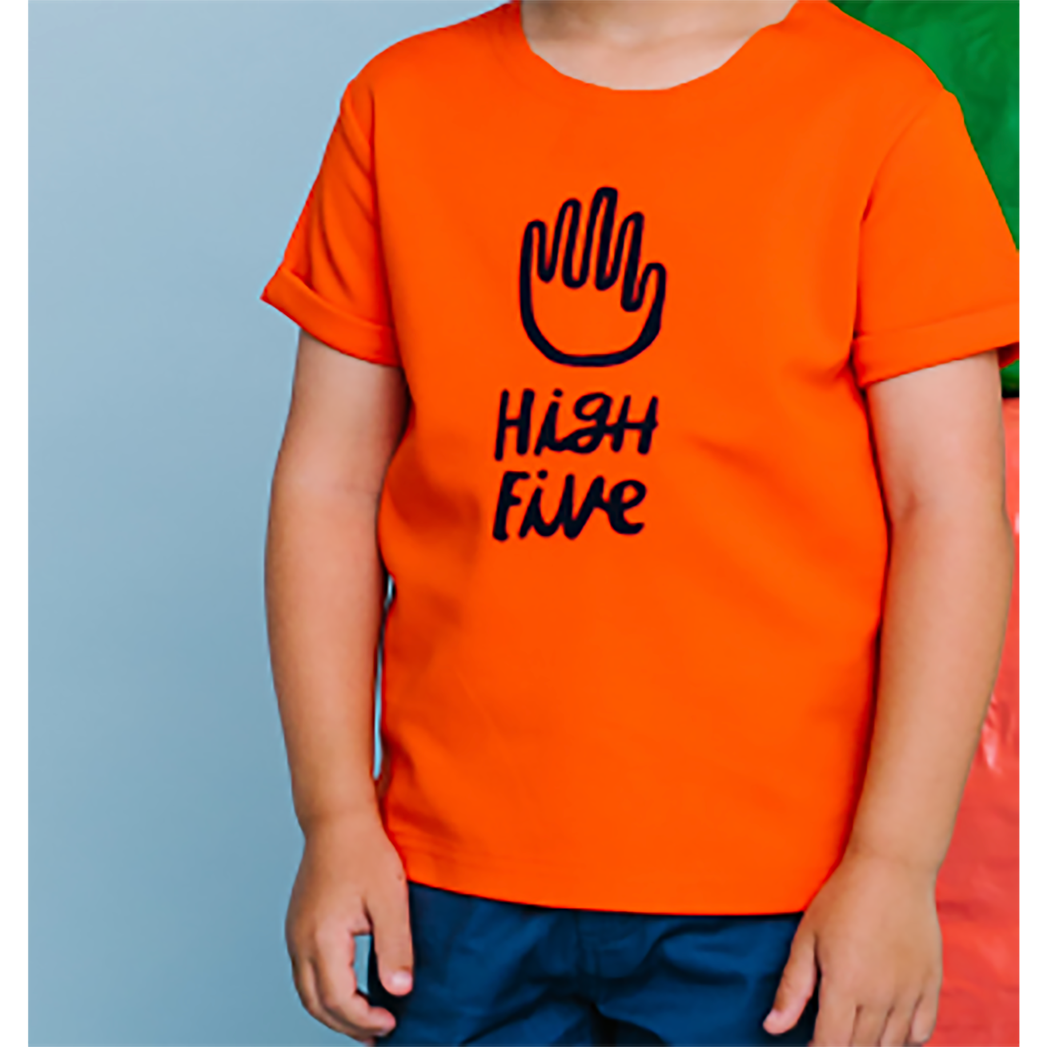 Crew Orange High Five Tee