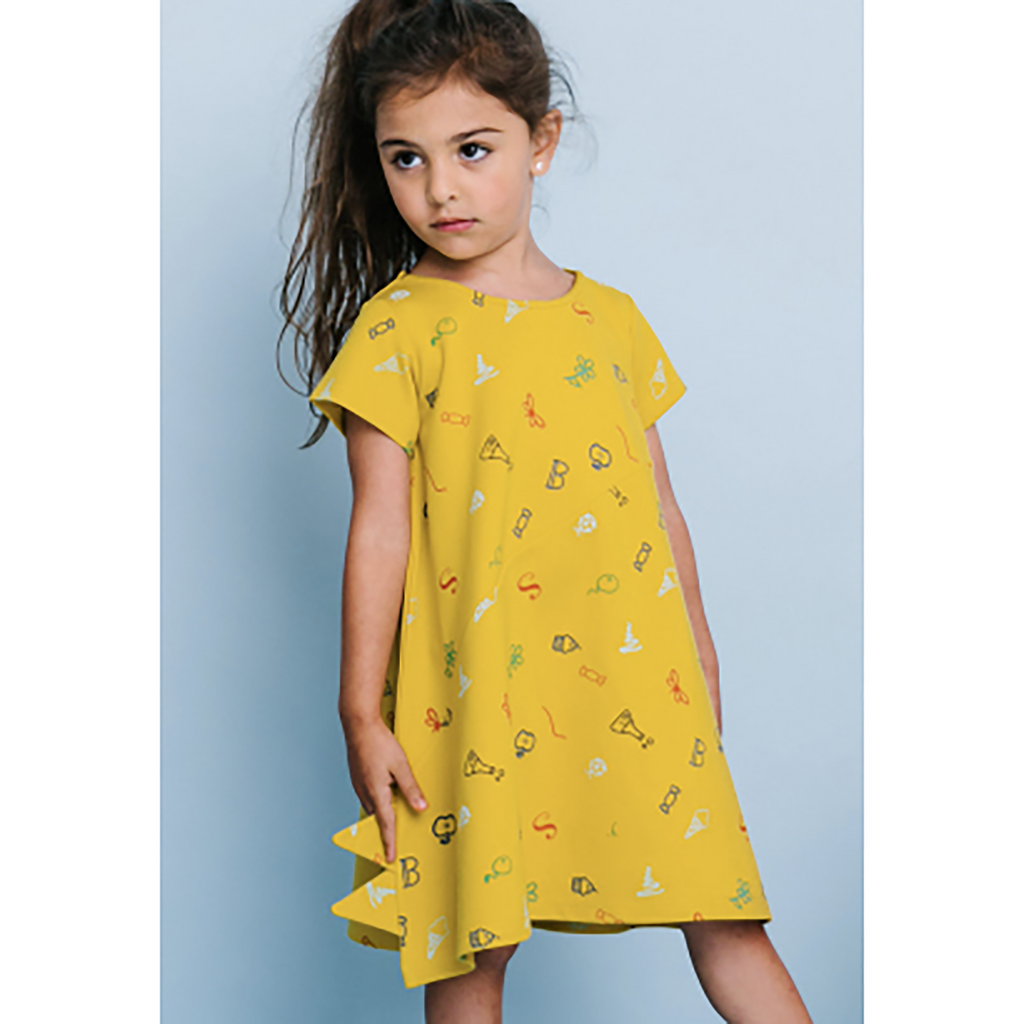 Crew Mustard Triangle Dress
