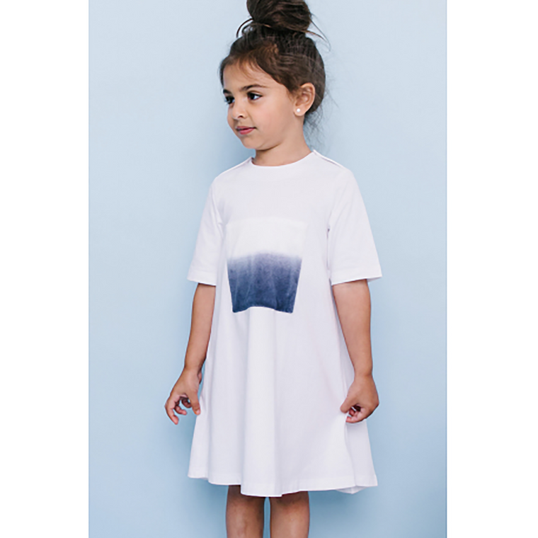 Crew White Square Dress