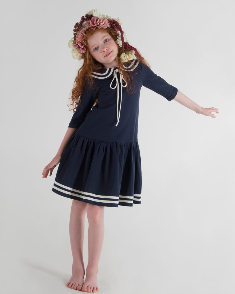 Teela Navy Sailor Dress