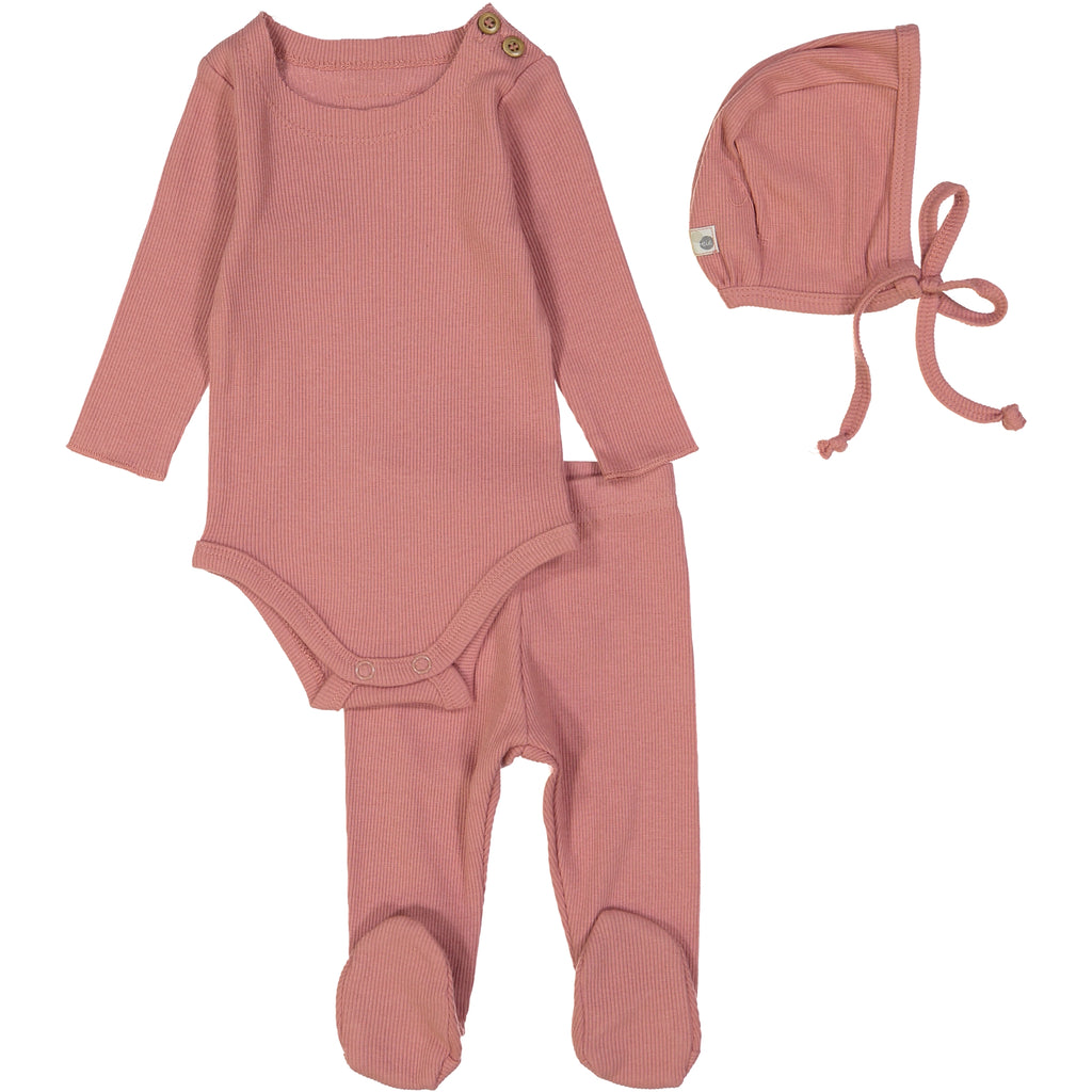 Lil Leggs Dusty Pink Ribbed Set