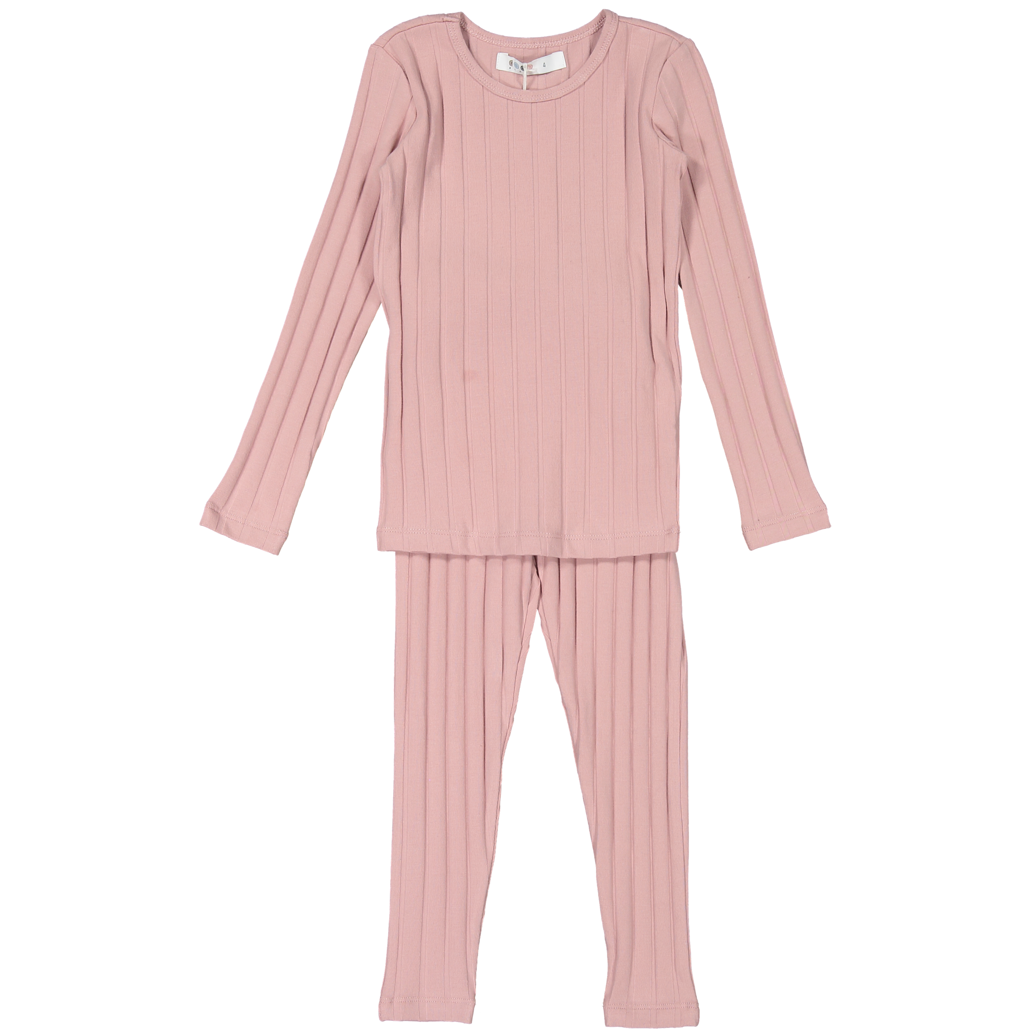 Coco Blanc Dusty Pink Ribbed Pajama