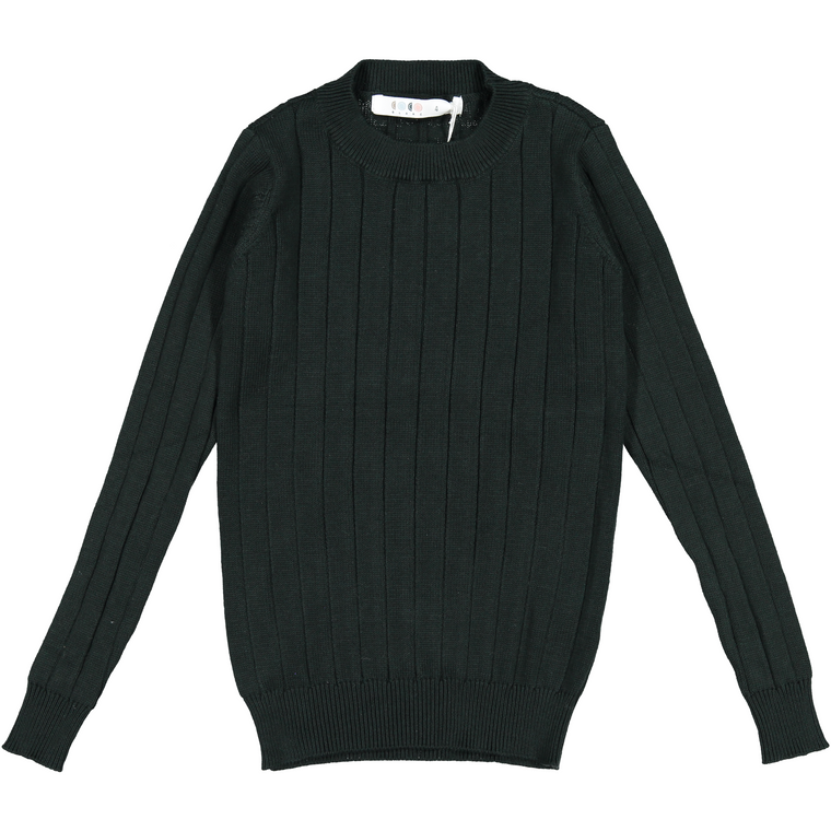 Coco Blanc Emerald Green Ribbed Sweater