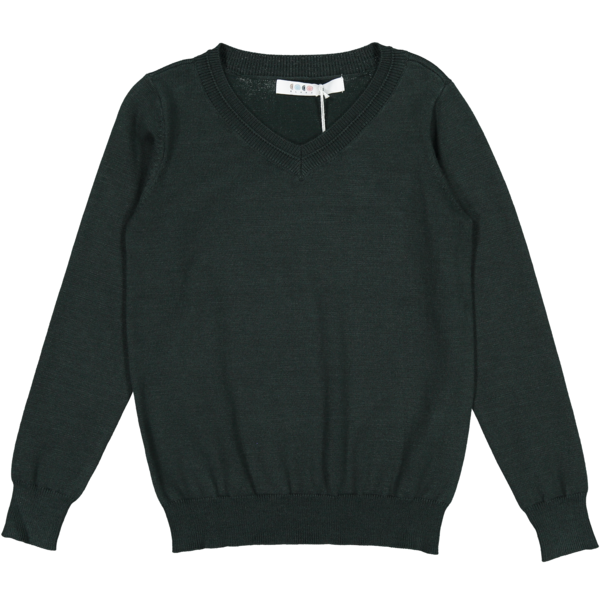 Coco Blanc Emerald Green V-Neck Sweater