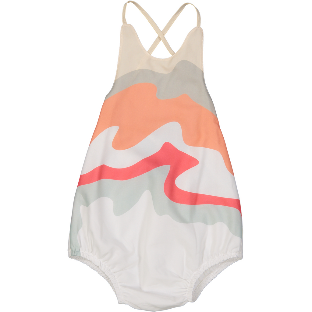 Euro Miss Pink Mountains Baby Bodysuit