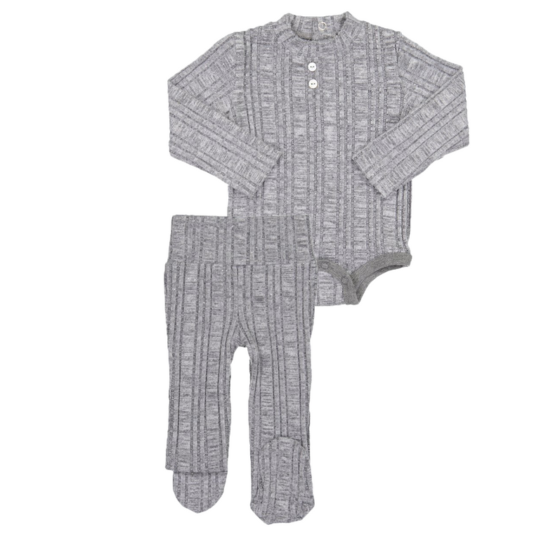 Fragile Light Grey Sparkle Rib 2PC