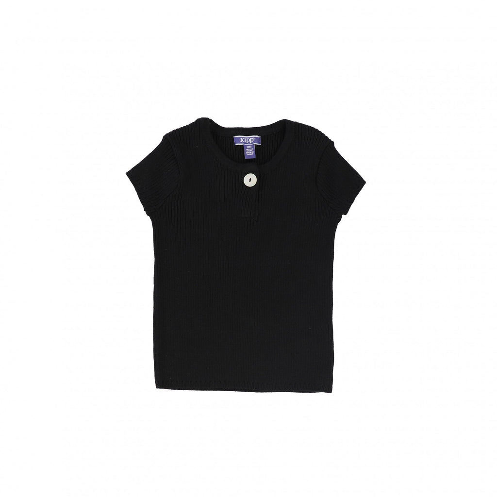 Kipp Black Ribbed Top