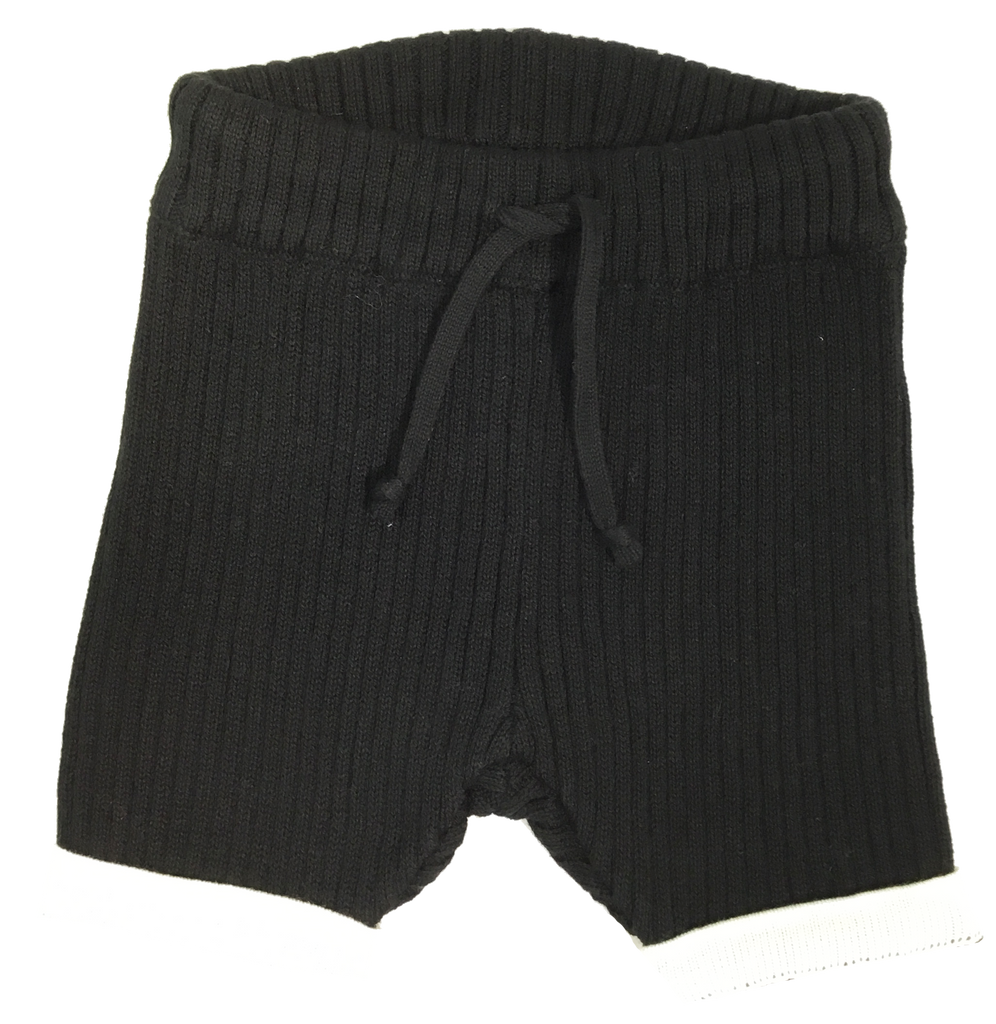Kipp Baby Black Ribbed Shorts