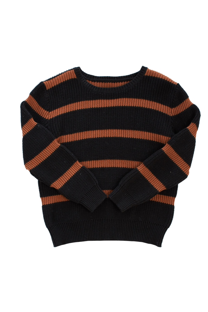 Kipp Black Striped Crewneck