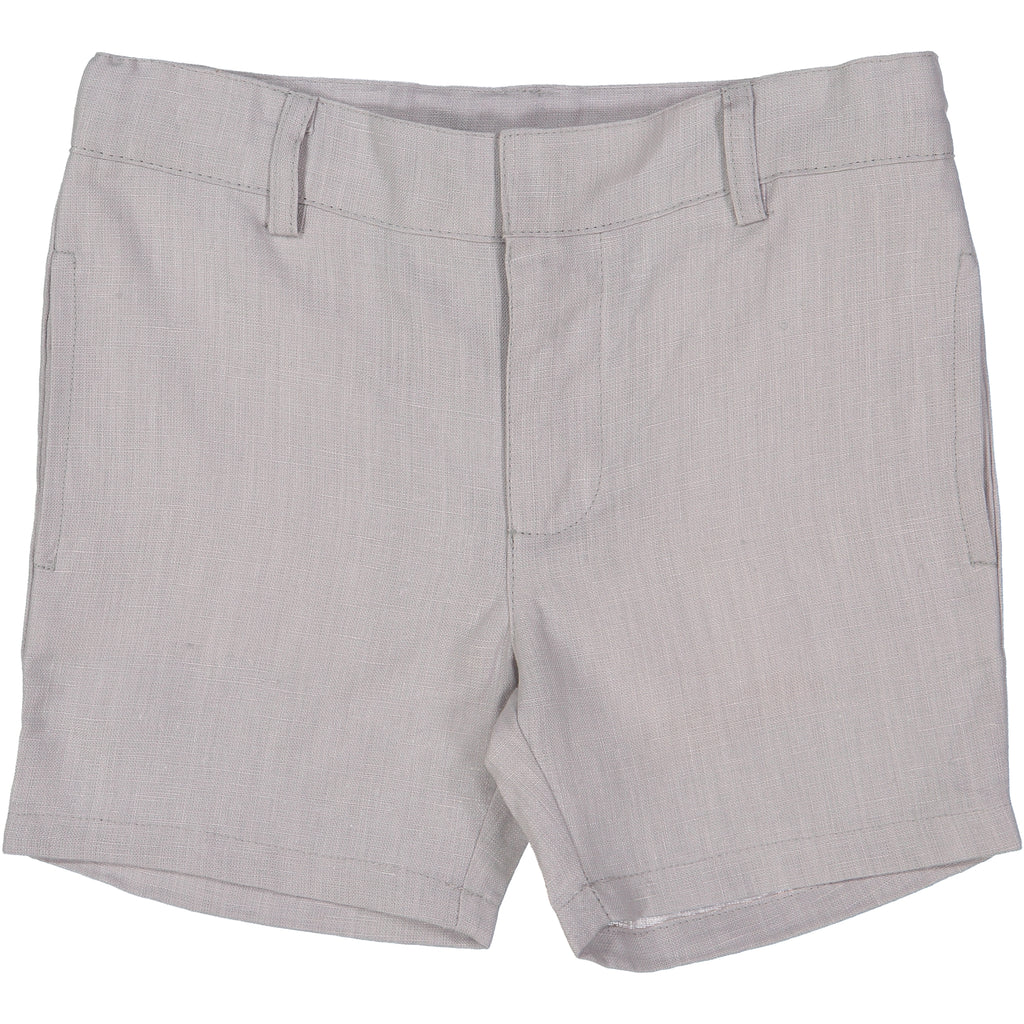 Analogie by Lil Leggs Grey Linen Shorts