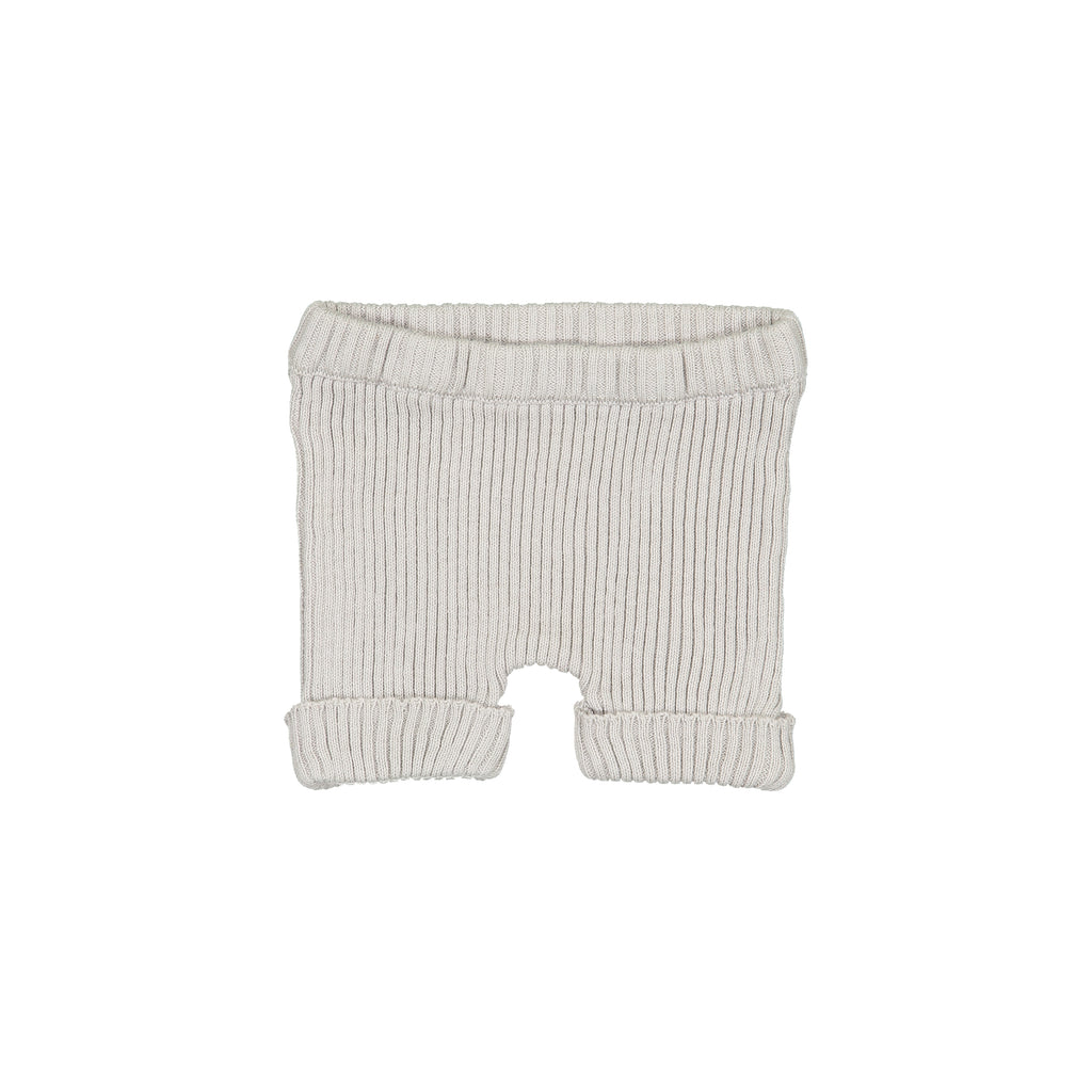 Analogie by Lil Leggs Grey Ribbed Knit Shorts
