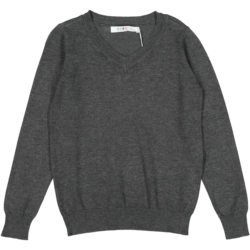 Coco Blanc Dark Grey V-Neck Sweater