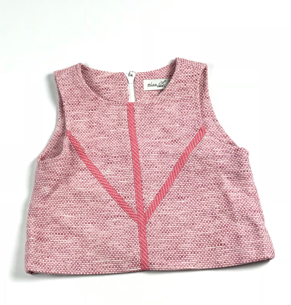 Miss L Ray Pink Woven Vest
