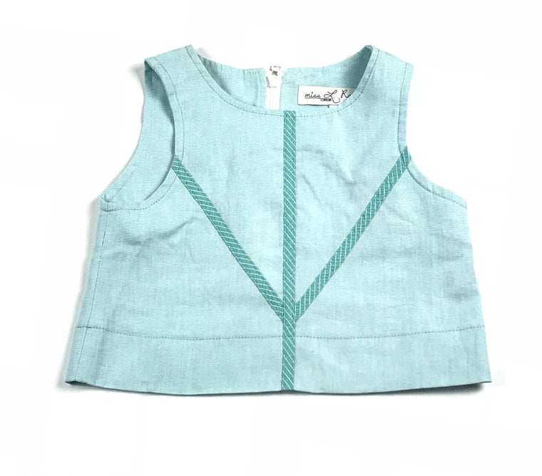 Miss L Ray Light Blue Woven Vest