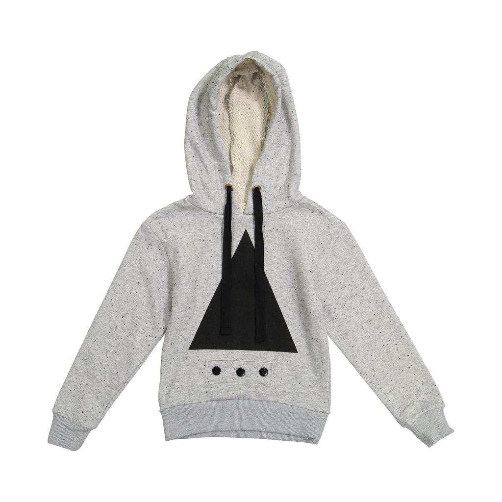 Teela Speckled Grey Ski Triangle Hoodie Top