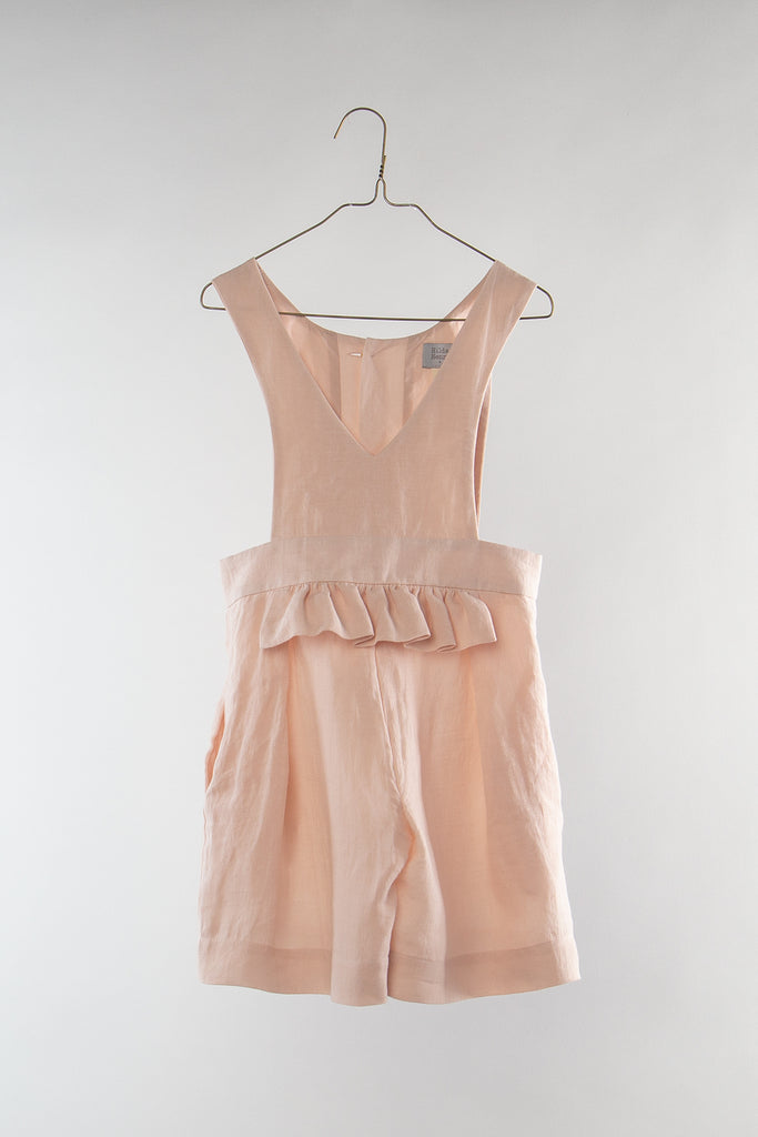 Hilda Henri Solid Pink Frill Dress