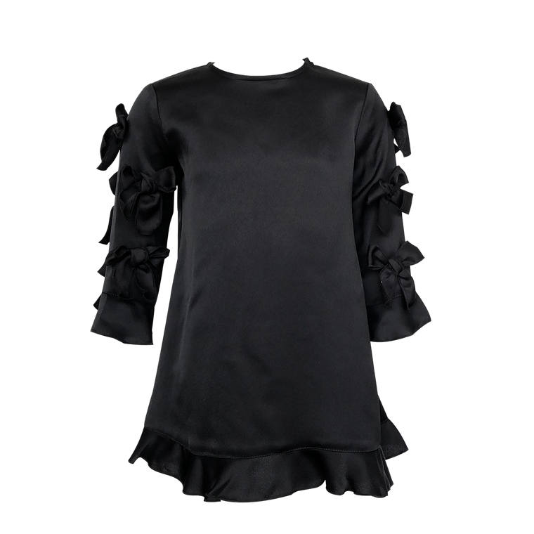 Lola Black Bow Sleeve Dress