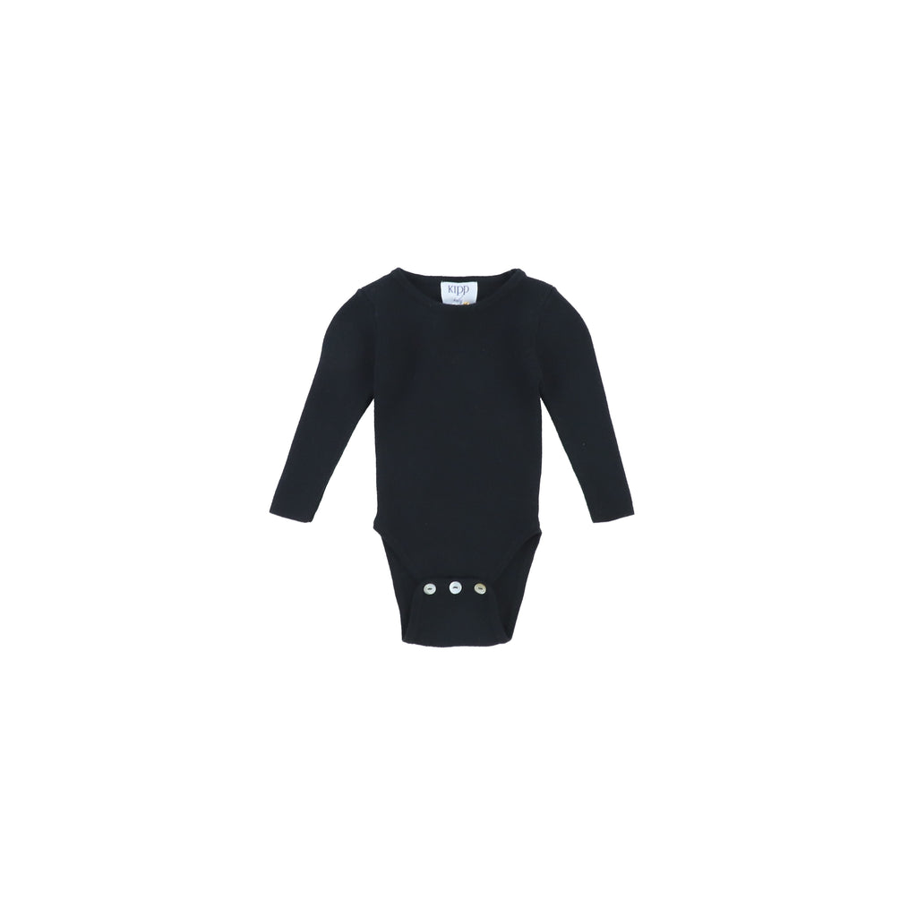 Kipp Baby Black Knit Bodysuit