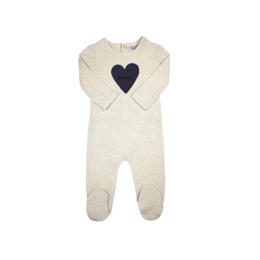 Kipp Baby Blue Heart To Eye Footie