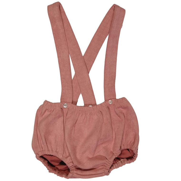 Kipp Baby Blush Suede Overall Bloomer