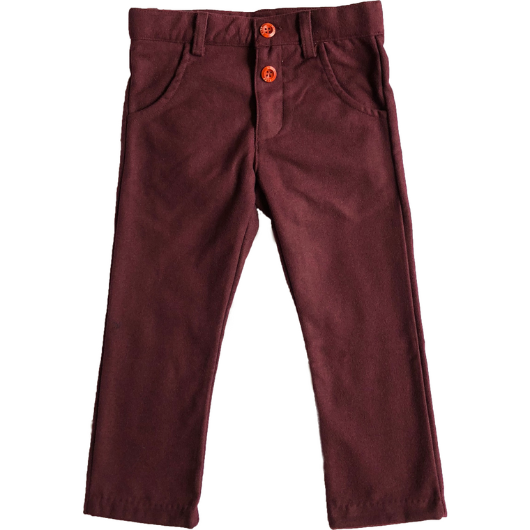 Kipp Berry Wool Slim Fit Pants