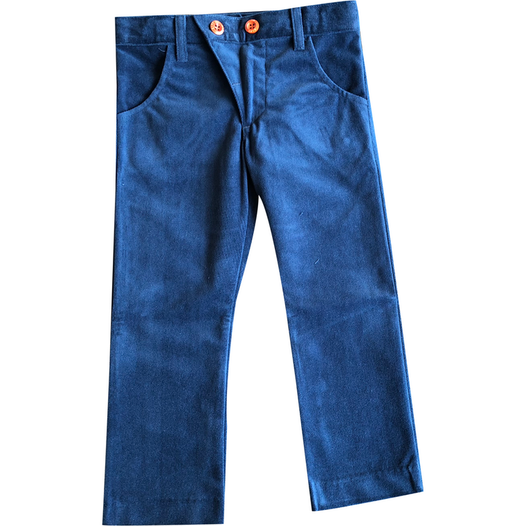 Kipp Blue Velvet Slim Pants