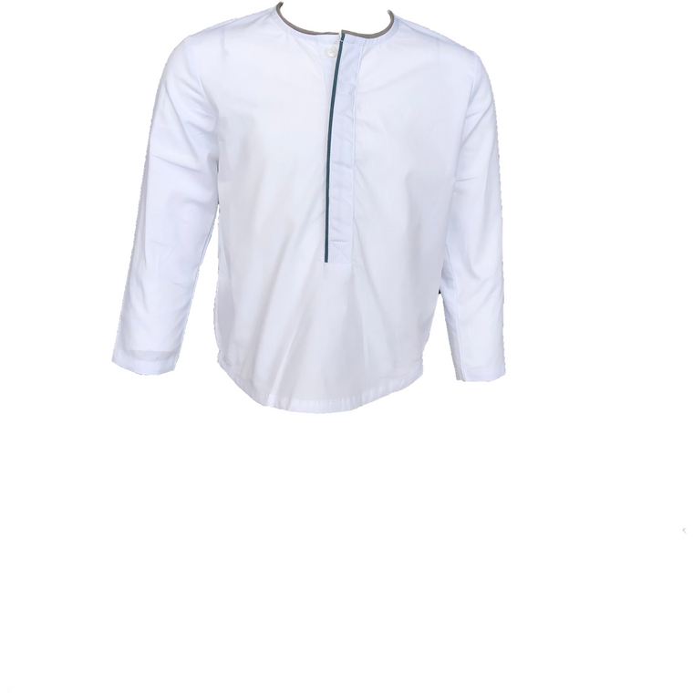 Kipp White/Green Multi Piped Shirt