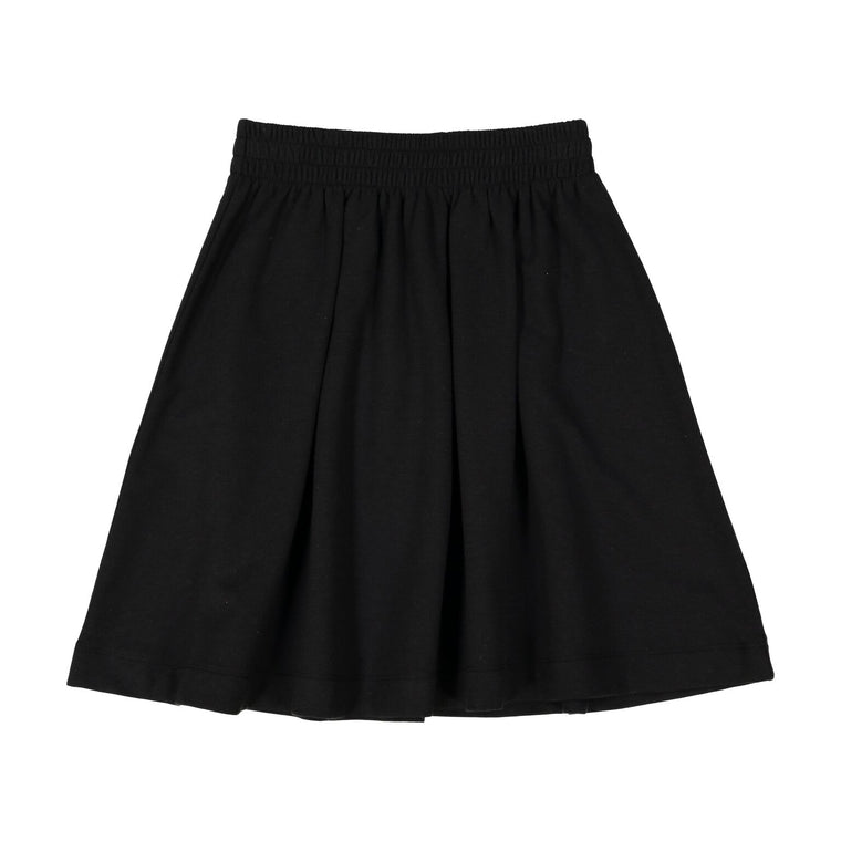 Teela Black Circle Ponte Skirt