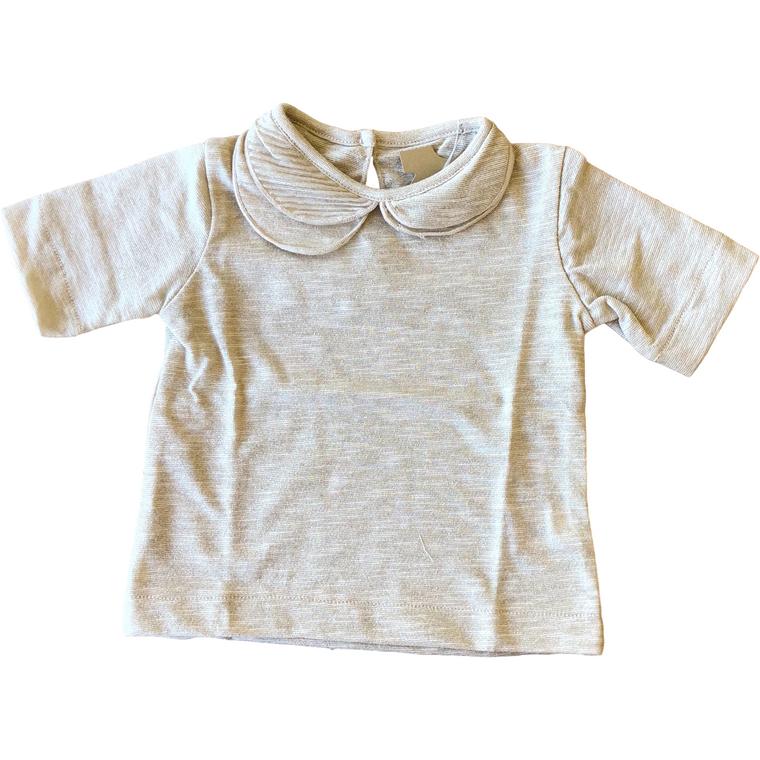 Latte Biscotti Gold Shimmer Collared Shirt
