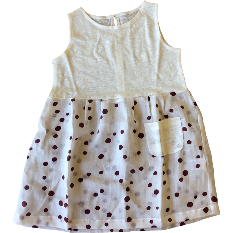 Latte Biscotti White/Red Polka Dot Dress