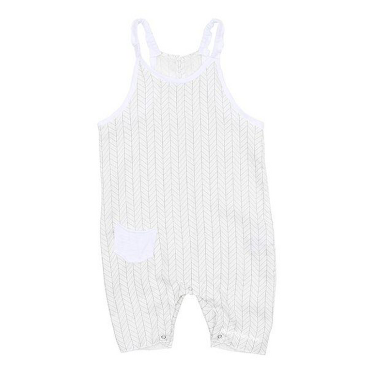 Latte Biscotti White/Grey Onesie