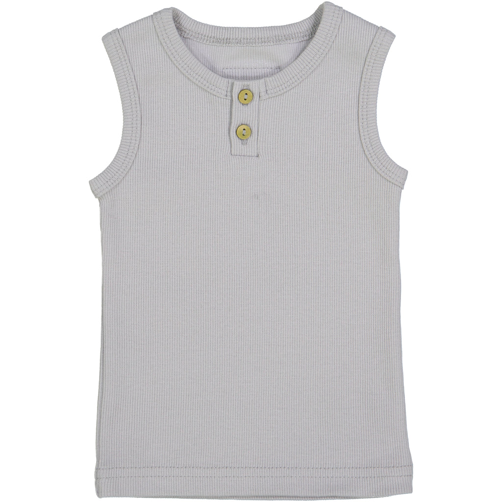 Lil Leggs Light Grey Ribbed Tank Top
