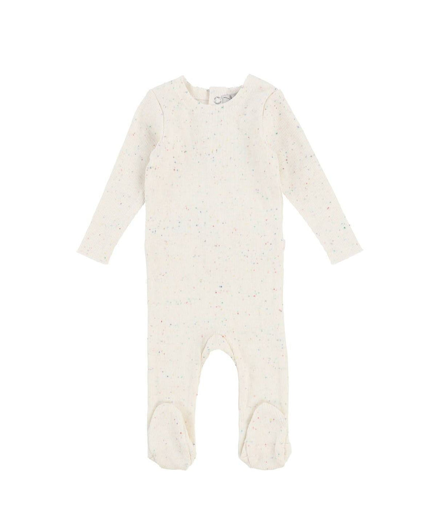 Lil Leggs Colorful Speckle Rib Footie