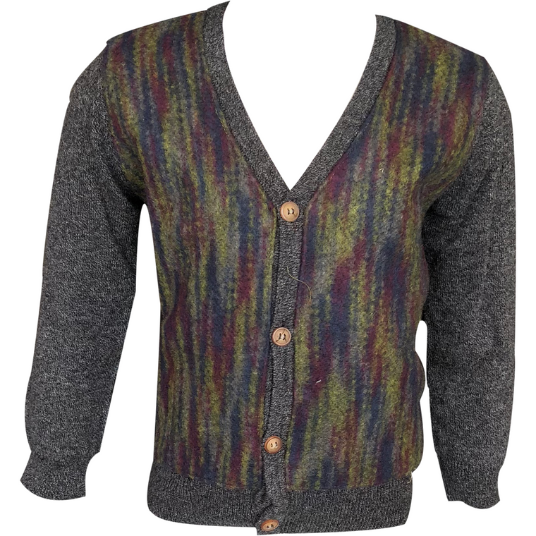 Little Cocoon Charcoal Multi Cardigan
