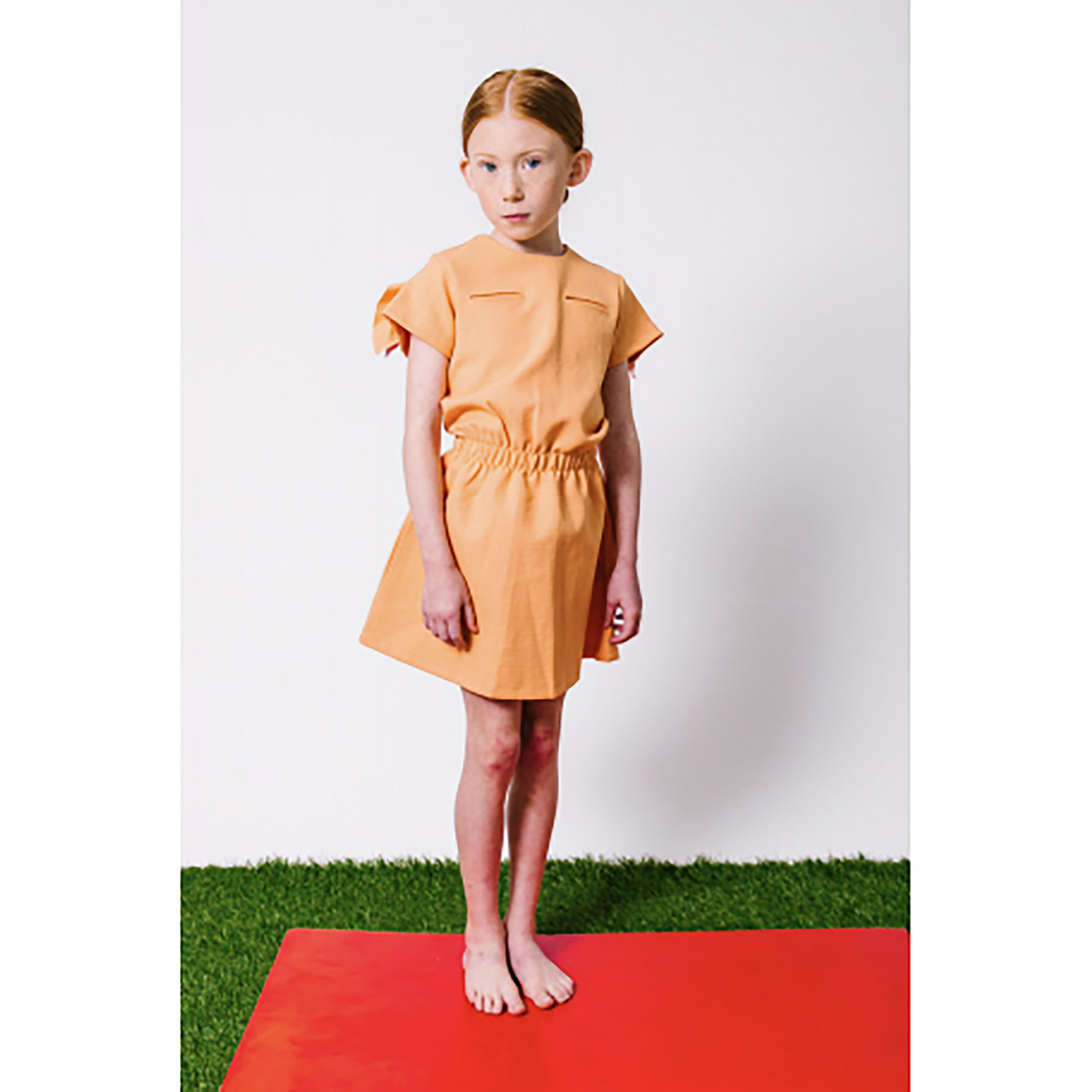 Little Cocoon Grapefruit Waisted Dress