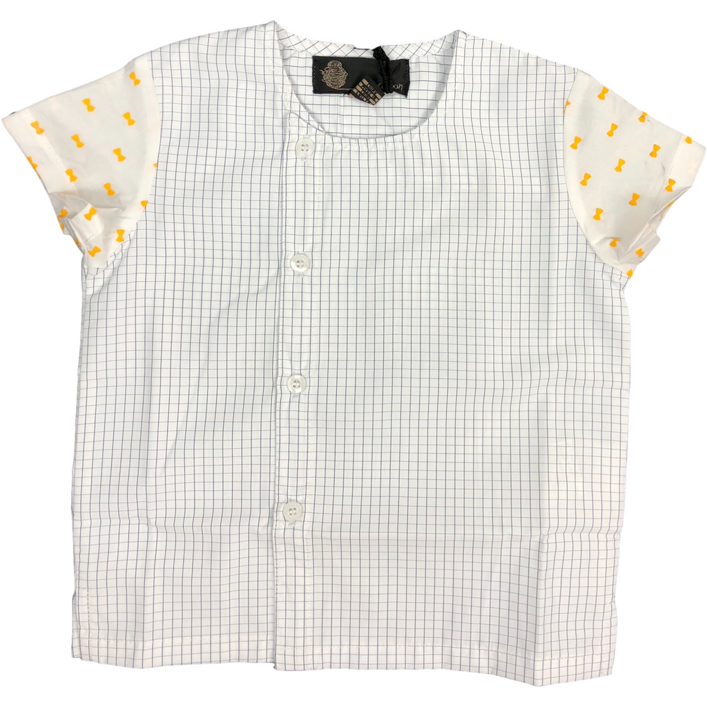 Little Cocoon Mango Grid Shirt