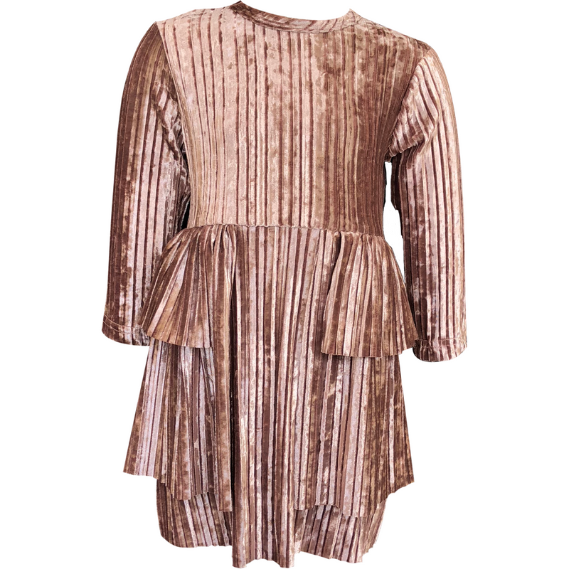 Lola Mauve Velour Dress