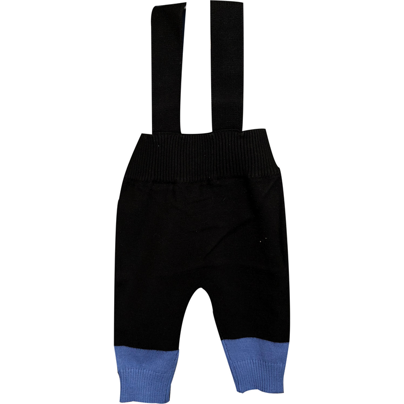 Lux Black/Blue Overalls