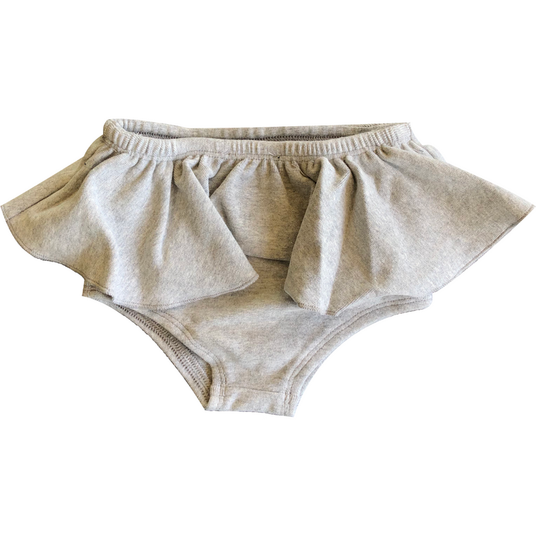 Lux Light Grey Ruffle Bloomer