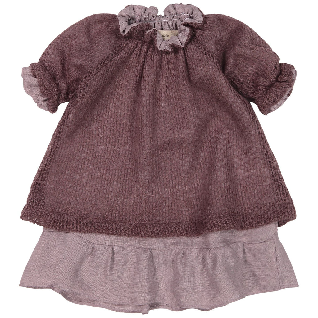 Mademoiselle A Soho Dusty Lavander Smock Dress