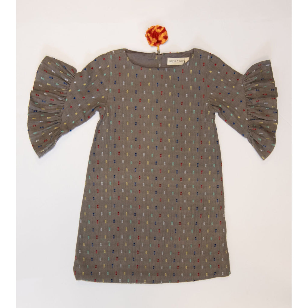 Marin and Morgan Storm Grey Multi Colored Lexi Dress