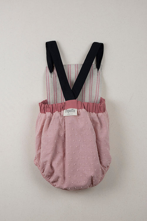 Popelin Red/Clay Reversible Dungarees