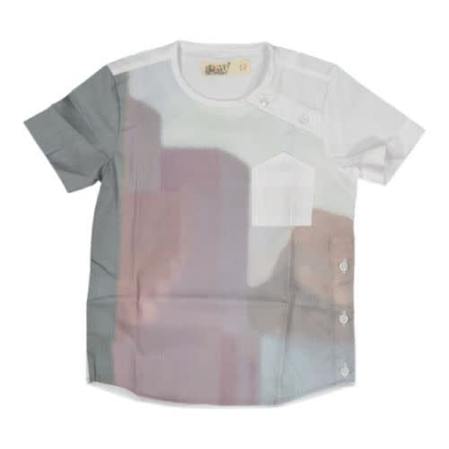 Nove Rust Watercolor Print Shirt