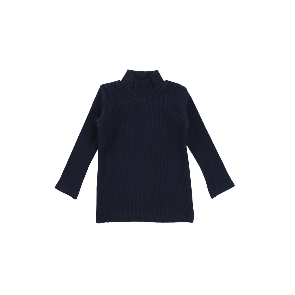 Lil Leggs Navy Rib Turtleneck