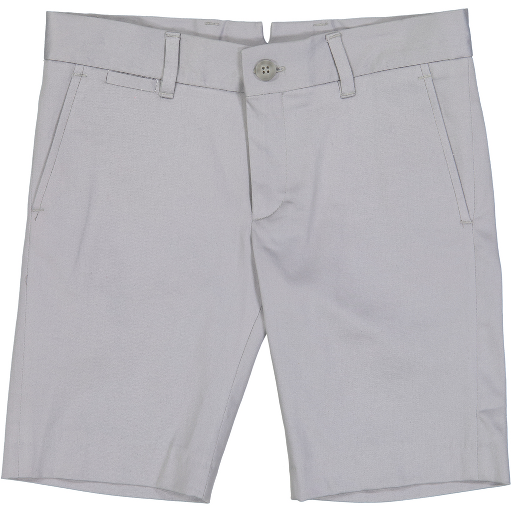 Nove Grey Cotton Sateen Shorts